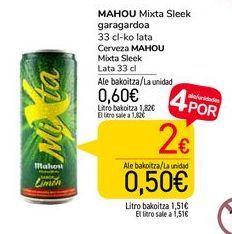 Oferta de Cerveza Mahou Mixta Sleek por 0,6€