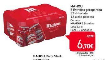 Oferta de Cerveza Mahou por 6,7€