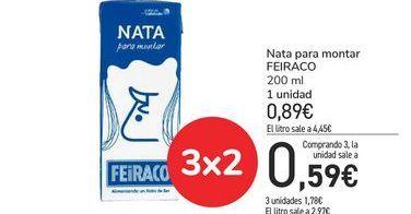 Oferta de Nata para montar FEIRACO por 0,89€