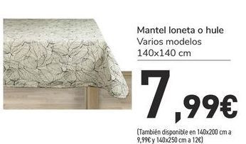 Oferta de Mantel loneta o hule por 7,99€