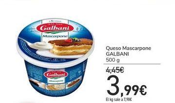 Oferta de Queso Mascarpone GALBANI por 3,99€