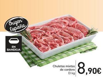 Oferta de Chuletas mixtas de cordero por 8,9€