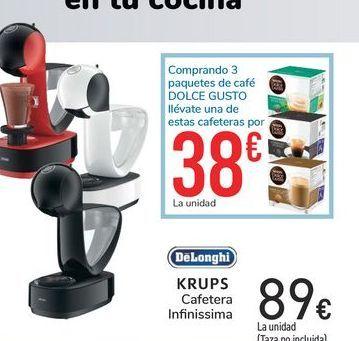 Oferta de Cafetera Monodosis Delonghi Dolce Gusto Infinissima EDG260 Roja por 89€