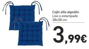 Oferta de Cojín silla algodón por 3,99€