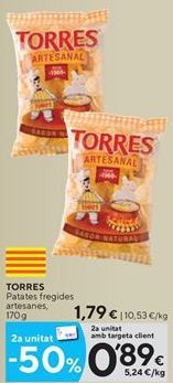 Oferta de Patatas fritas Torres por 1,79€