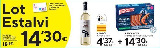 Oferta de Gambas Pescanova por 14,3€