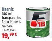 Oferta de Barniz por 19,99€