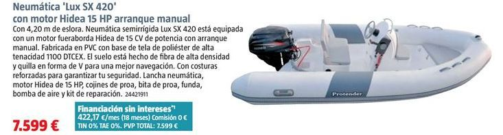 Oferta de Barca hinchable por 7599€