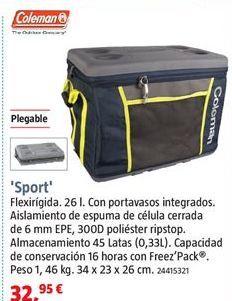 Oferta de Nevera portátil por 32,95€