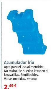 Oferta de Acumuladores de frío por 2,49€
