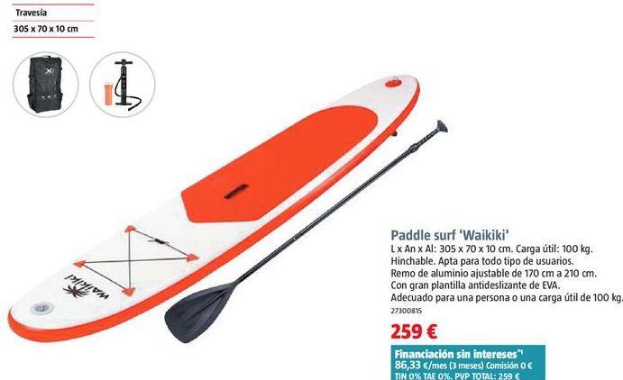 Oferta de Tabla de surf por 259€