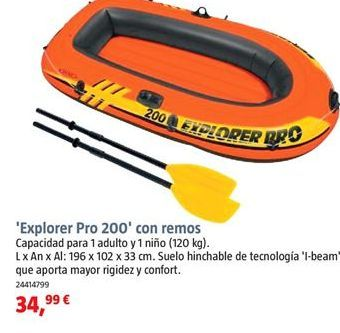 Oferta de Barca hinchable por 34,99€