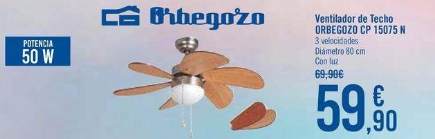 Oferta de Ventilador de techo ORBEGOZO CP 15075 N por 59,9€