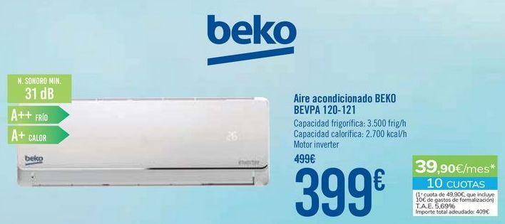 Oferta de Aire acondicionado BEKO BEVPA 120-121 por 399€