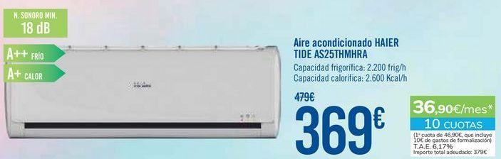 Oferta de Aire acondicionado HAIER TIDE AS25THMHRA por 369€