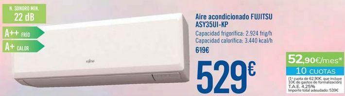 Oferta de Aire acondicionado FUJITSU ASY35UI-KP por 529€