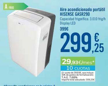 Oferta de Aire acondicionado portátil HISENSE GASR290 por 299,25€