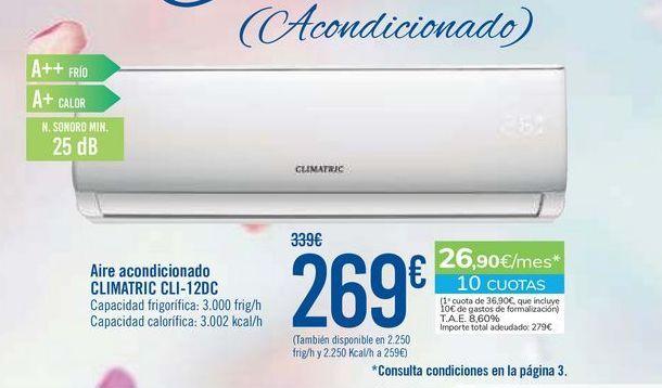 Oferta de Aire acondicionado CLIMATRIC CLI-12DC por 269€