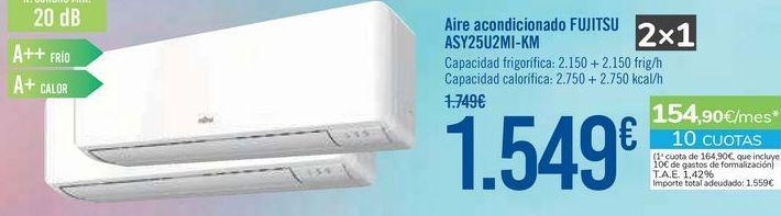 Oferta de Aire acondicionado FUJITSU ASY25U2MI-KM por 1549€