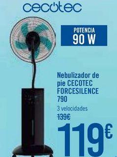 Oferta de Nebulizador de pie CECOTEC FORCESILENCE 790 por 119€