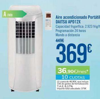 Oferta de Aire acondicionado portátil DAITSU APD12X  por 369€