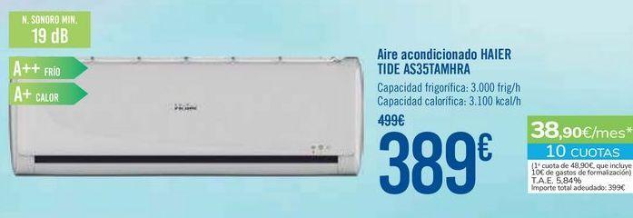 Oferta de Aire acondicionado HAIER TIDE AS35TAMHRA por 389€