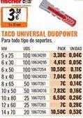 Oferta de Tacos de fijación por 3,38€