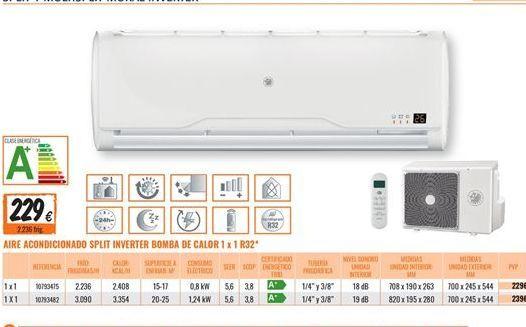 Oferta de Aire acondicionado por 229€