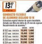 Oferta de Conducto flexible de aluminio por 13,97€