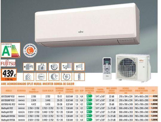 Oferta de Aire acondicionado Fujitsu por 439€