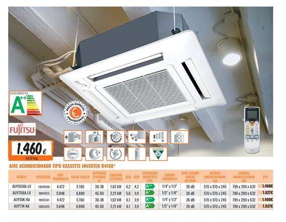 Oferta de Aire acondicionado casette inverter Fujitsu por 1460€