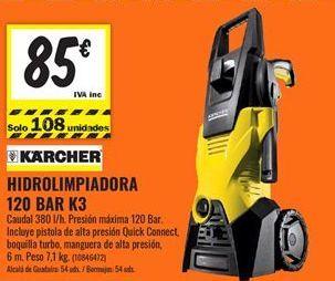 Oferta de Hidrolimpiadora Kärcher por 85€
