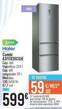Oferta de Combi A3FE835CGJE Haier  por 599€