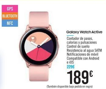 Oferta de Galaxy Watch Active por 189€