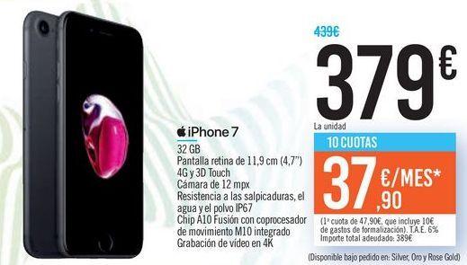 Oferta de IPhone 7 por 379€