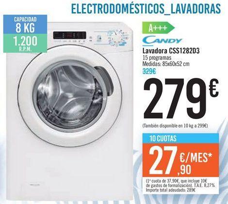 Oferta de Lavadora CSS1282D3 Candy  por 279€