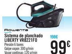 Oferta de Sistema de planchado LIBERTY VR8221F0  por 99€