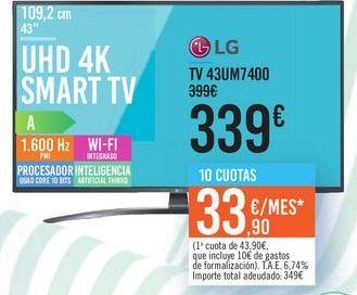Oferta de UHD 4K SMART TV 43UM7400 por 339€