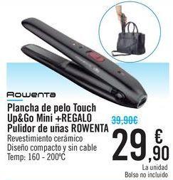 Oferta de Plancha de pelo Touch Up&Go Mini + REGALO pulidor de uñas ROWENTA  por 29,9€