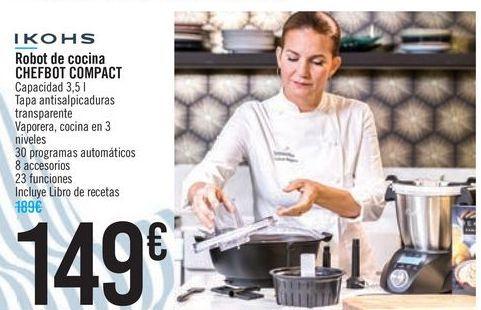 Oferta de Robot de cocina CHEFBOT COMPACT IKOHS por 149€