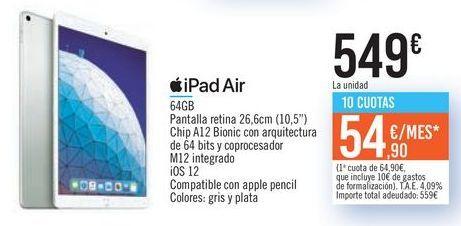 Oferta de IPad Air por 549€