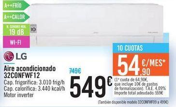 Oferta de Aire acondicionado 32CONFWF12 LG  por 549€