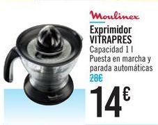 Oferta de Exprimidor VITRAPRES Moulinex  por 14€