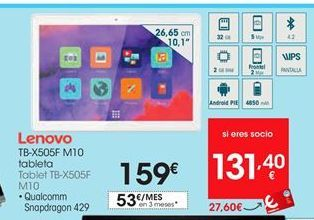 Oferta de Tablet Lenovo por 159€