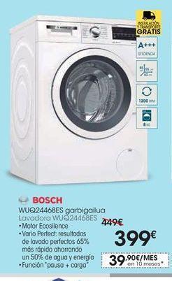 Oferta de Lavadora carga frontal Bosch por 399€
