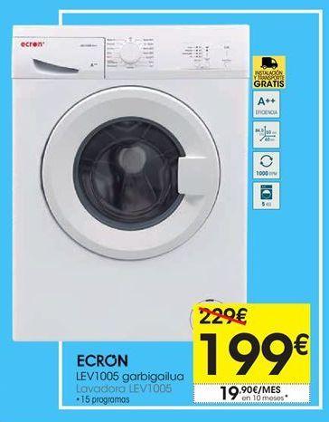 Oferta de Lavadora carga frontal Ecron por 199€