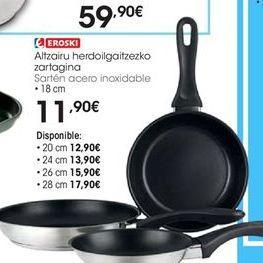 Oferta de Sartén de acero eroski por 11,9€