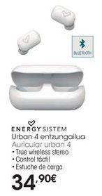 Oferta de Auriculares bluetooth Energy Sistem por 34,9€