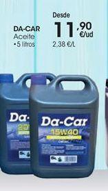 Oferta de Aceite para motor DA-CAR por 11,9€
