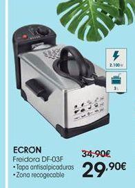Oferta de Freidora Ecron por 29,9€